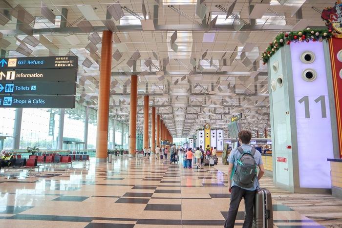シンガポール航空第3ターミナル出発フロア