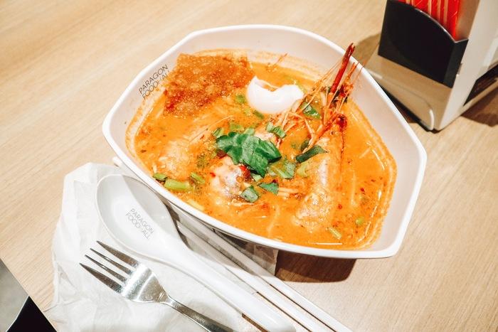サイアムパラゴンのフードコートで食べたトムヤムクンヌードル
