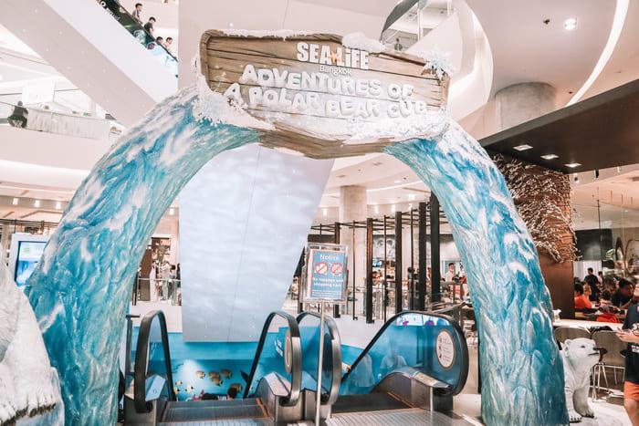 ベースメントフロアの水族館
