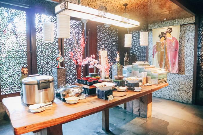 日本食のコーナー